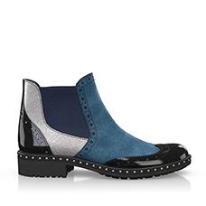 Blue chelsea boots