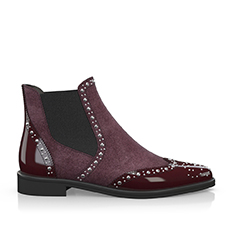 Wine red chelsea boots