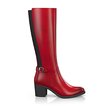 Bright red boots